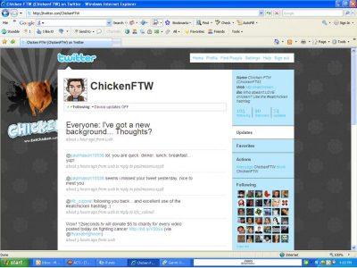 ChickenFTW Twitter Post