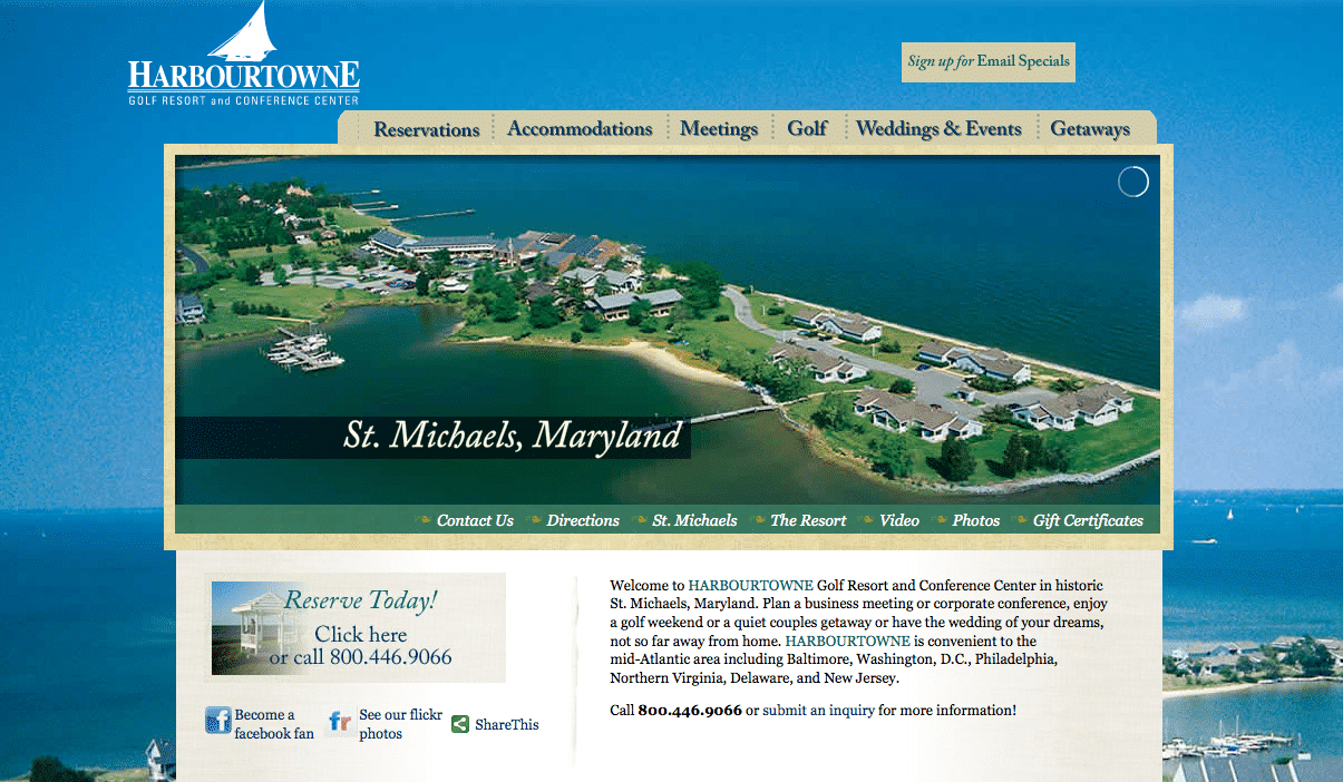 Harbourtowne in St. Michaels - New Website!