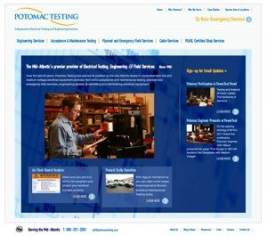 Potomac Testing website by The Cyphers Agency