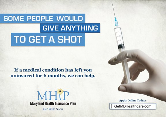 Some people would give anything to get a shot ad