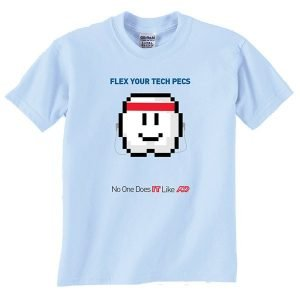 Flex Your Tech Pecs No One Does IT like ADP Tshirt Design