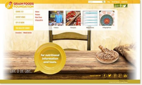 Grains Food Foundation Website