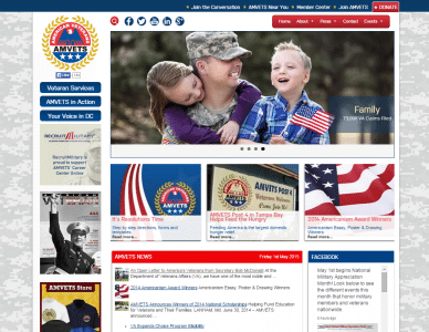 AMVETS Website Design and Development