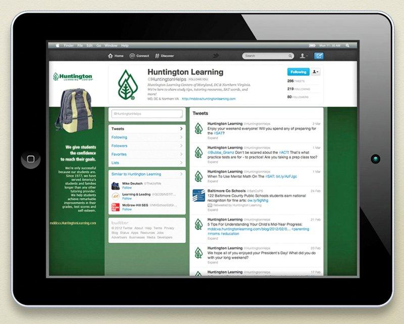 Twitter for Huntington Learning Center