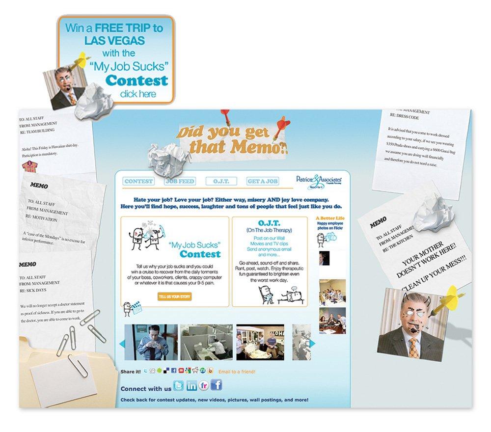 Did You Get That Memo Microsite