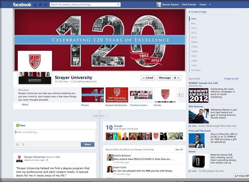 Strayer University Facebook