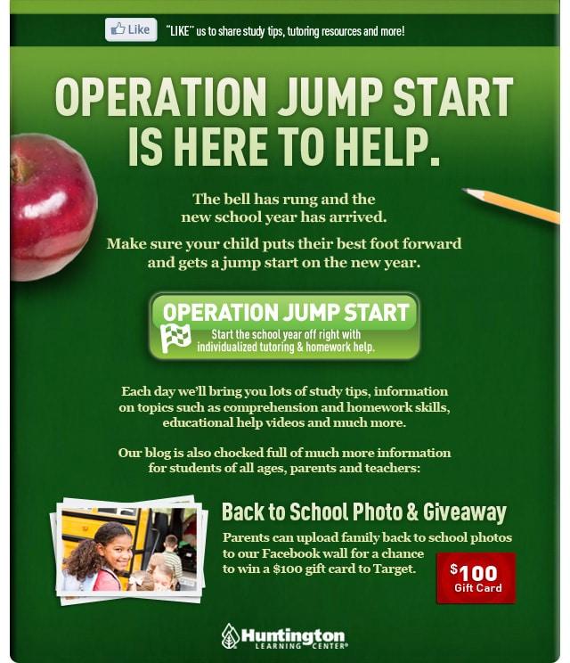 Huntington Learning Center Operation Jumpstart Email