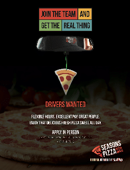 Drivers Wanted Pizza Ad