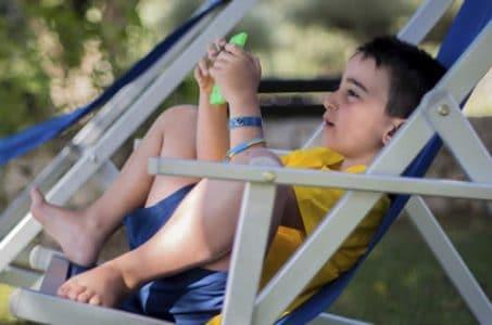 Kid Watching Video on YouTube