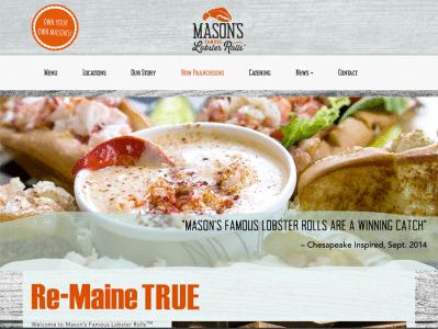 Mason's Lobster Restaurant Website