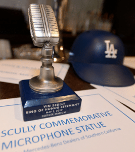 Los Angeles Dodgers: Vin Scully Microphone Statue