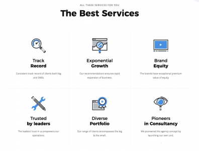 icons used in web design