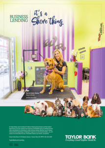 Taylor Bank Wags 2 Riches Business Lending Ad