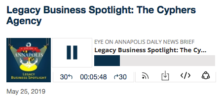The Cyphers Agency Featured on Eye on Annapolis's Legacy Business Spotlight Series Podcast