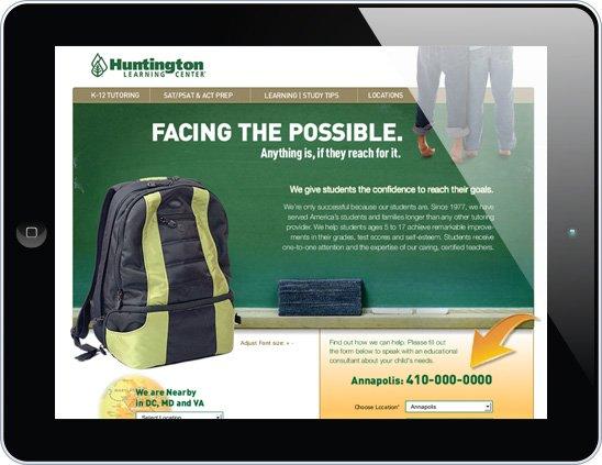 Huntington Microsite image