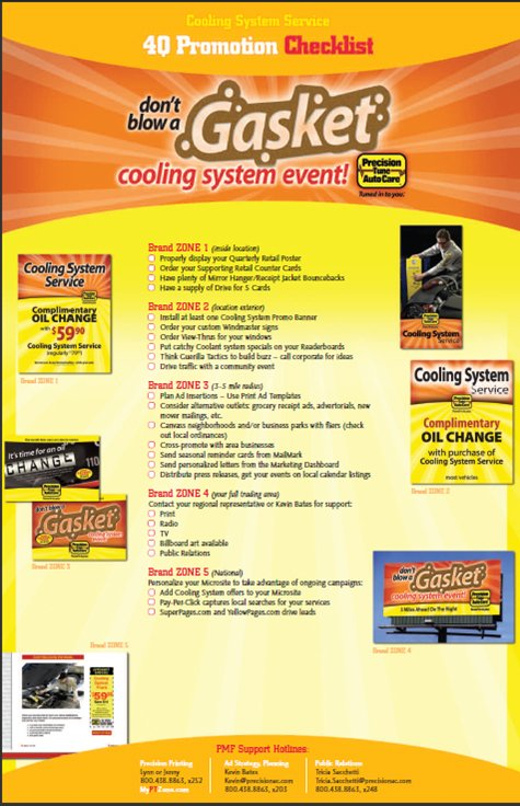 Cooling system event flyer for franchisees