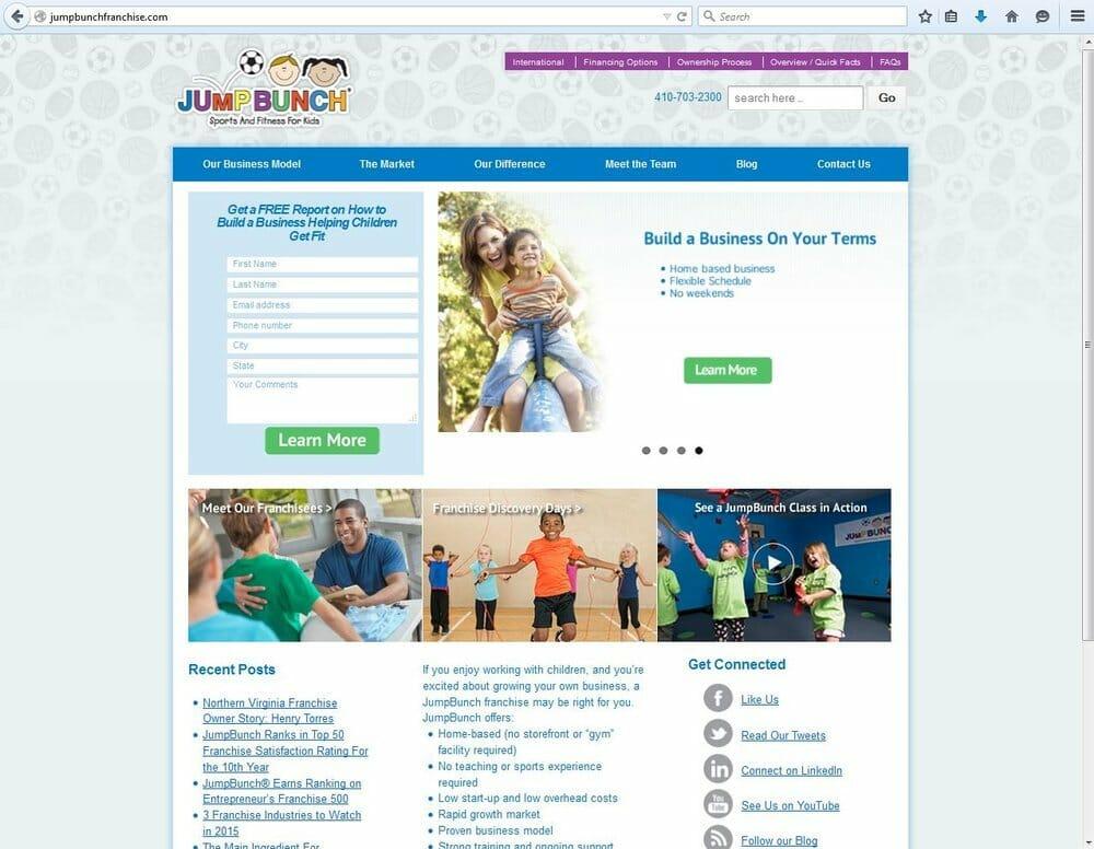 JumpBunch Franchise Website