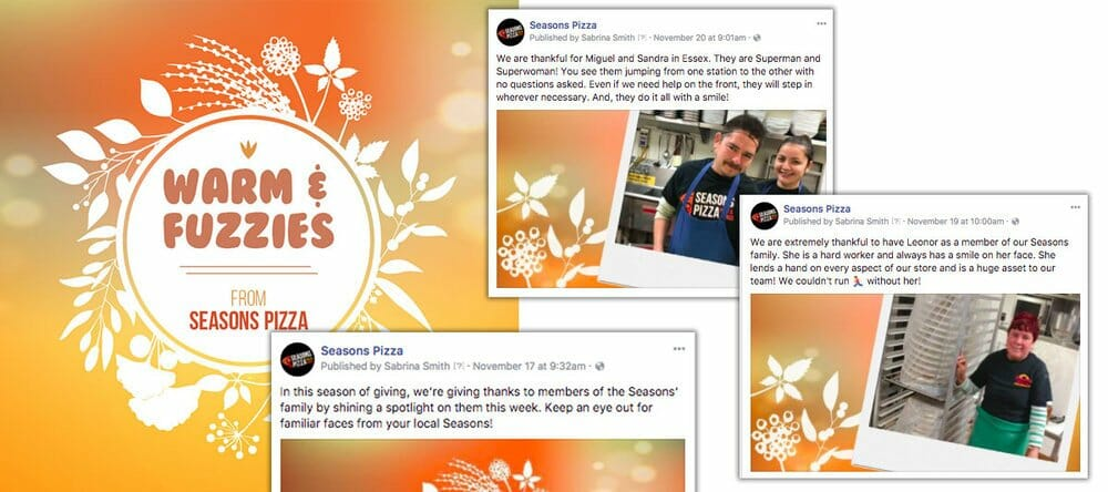 Seasons Pizza Facebook