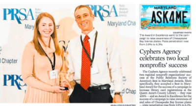 Cyphers' PRSA Wins Featured in The Capital and Baltimore Sun