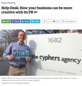 Baltimore Business Journal Features Top 6 PR Tips from Steve Adams, PR Account Executive