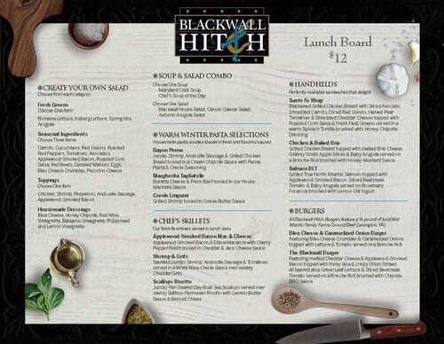 Blackwall Hitch Menu