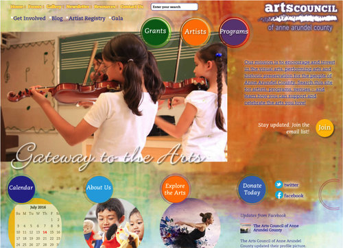 Anne Arundel Arts Council Website