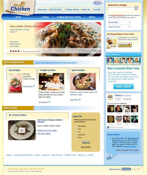 National Chicken Council Eat Chicken website