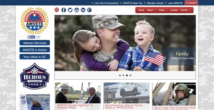 Amvets website