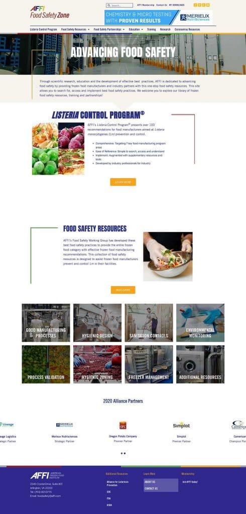 AFFI Food Safety Website