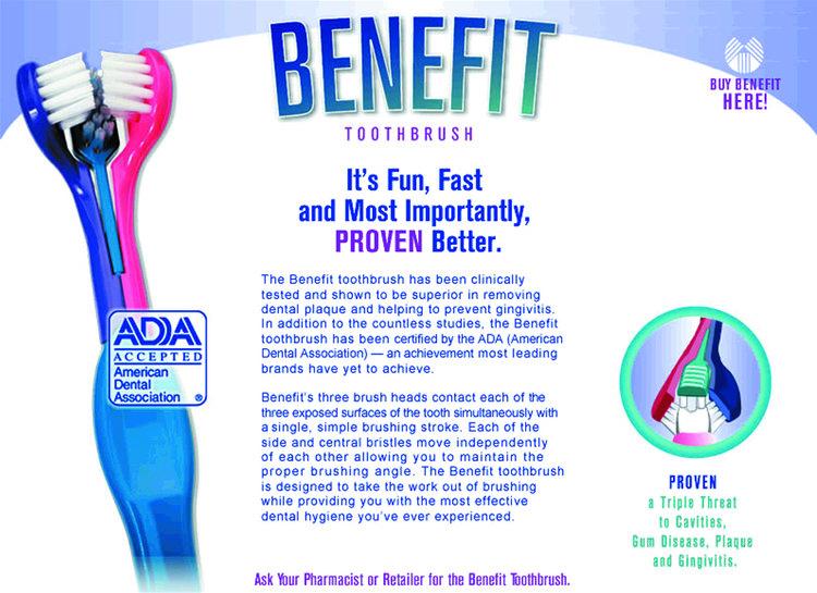 Benefit Toothbrush Website