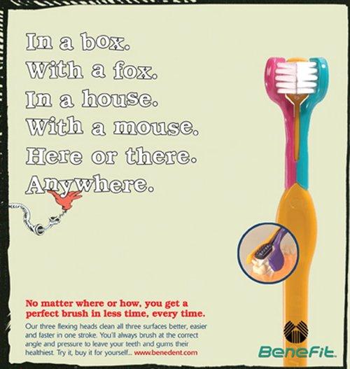 Benefit Toothbrush Ad
