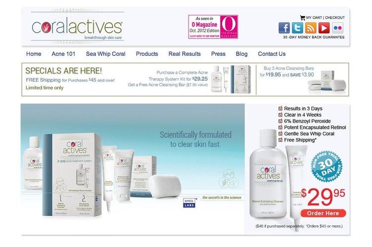 CoralActives Website