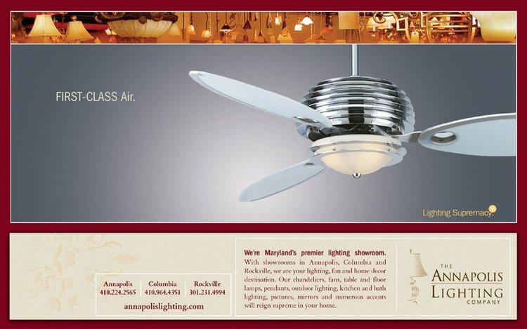 Annapolis Lighting Fan Ad