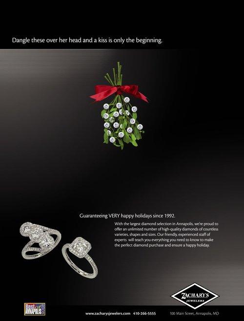Zachary's Jewelry Mistletoe Ad