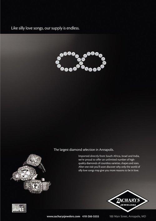 Zachary's Jewelry Infinity Ad