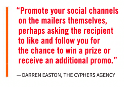 Promote your social channels...