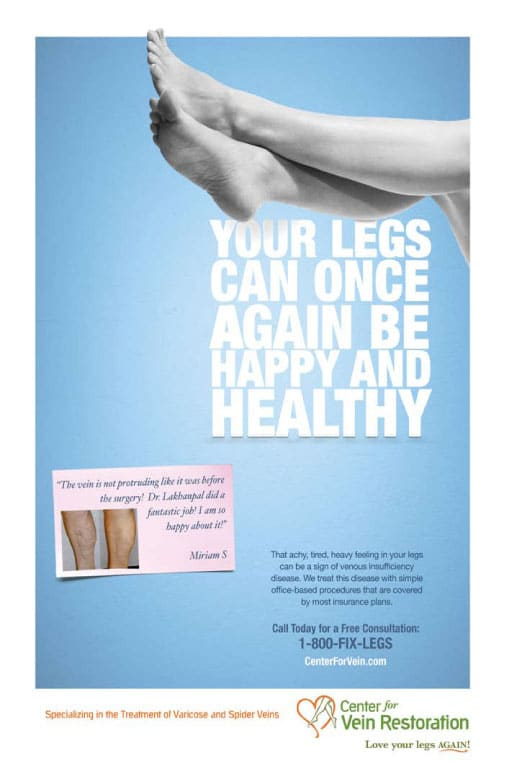 Center for Vein Restoration Ad
