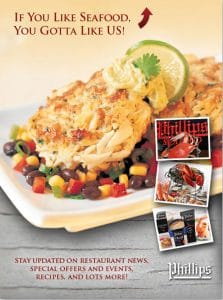 Phillips Seafood Social Media