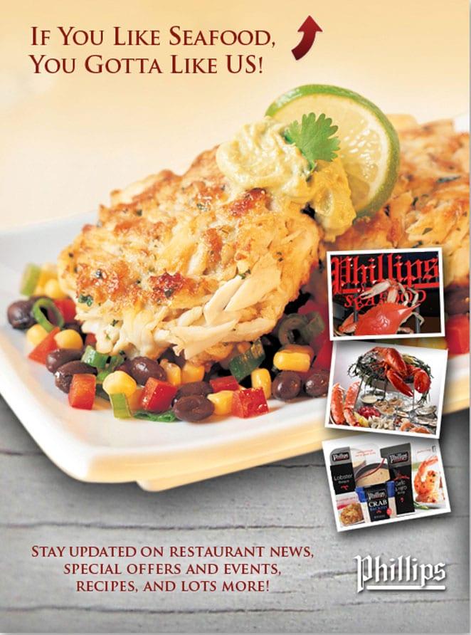 Phillips Seafood Social Media