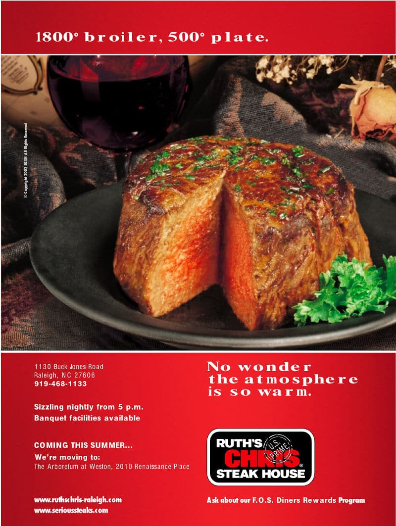 Ruth's Chris Steak House Ad
