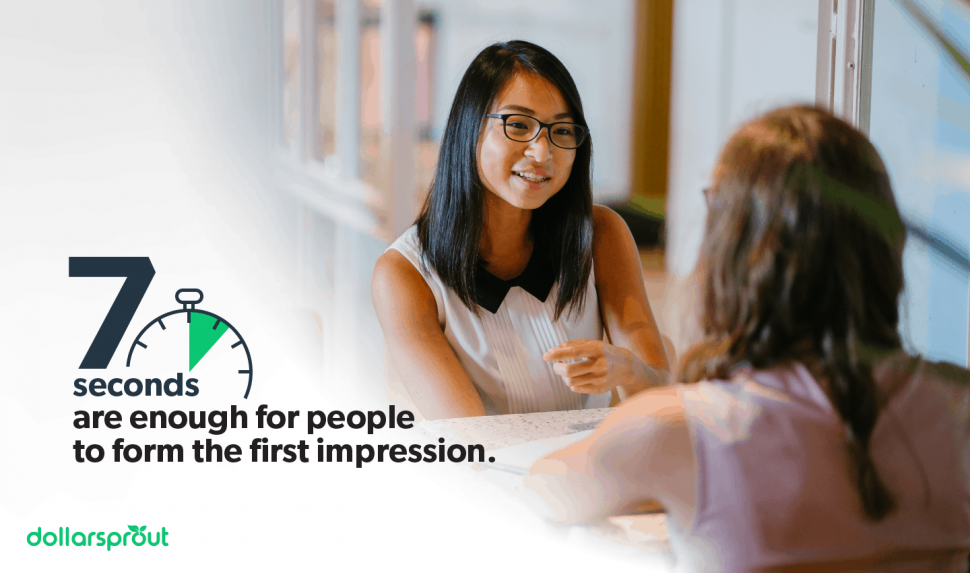 7 seconds are enough for people to form a first impression