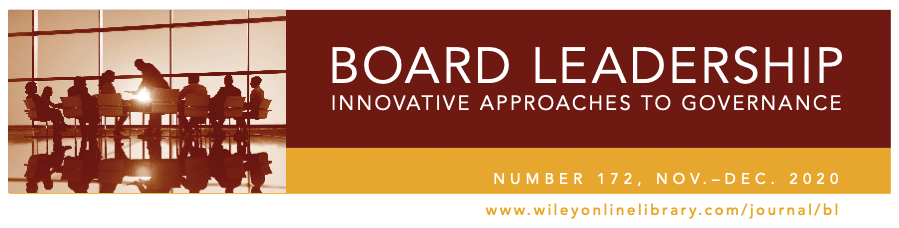 Board Leadership Innovative Approaches to Governance