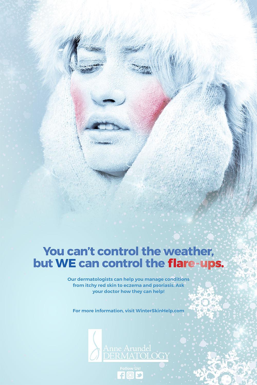 Cold Weather Skin Care Ad Campaign