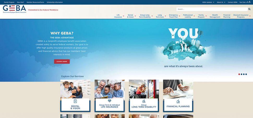 GEBA website