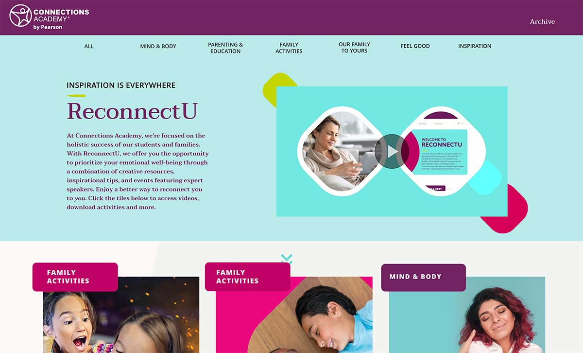 Connections Website with Tips