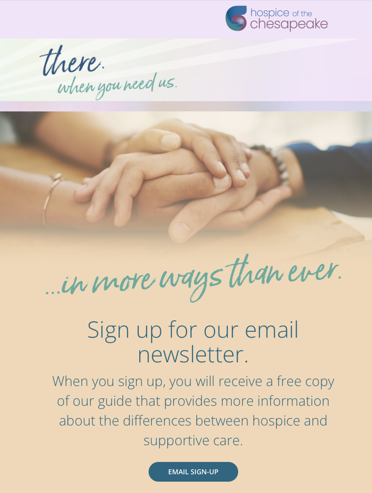 Example of an email sent to customers encouraging them to become email list subscribers.