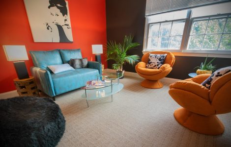 The Audrey Room, one of the new breakout rooms