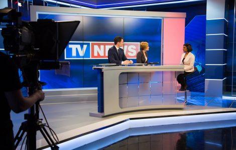 Tv news report