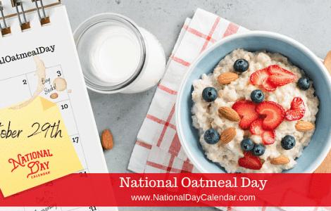 National Oatmeal Day