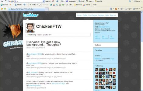 ChickenFTW Twitter Post